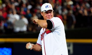 Illustration for article titled Report: Braves Players Boycotted Chipper Jones's First Pitch