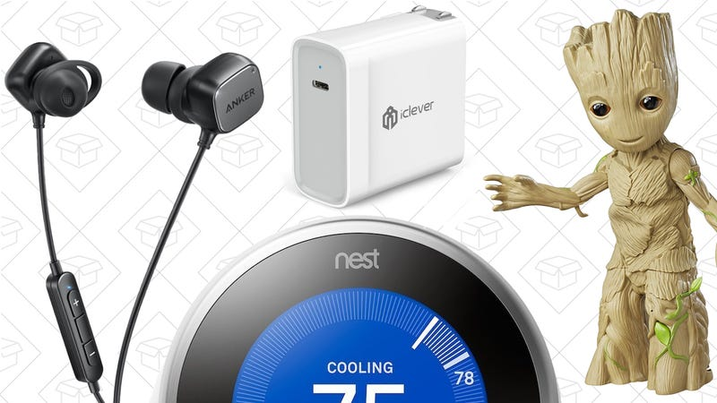 Illustration for article titled Today's Best Deals: Nest Thermostat, Marvel Sale, Anker SoundBuds, and More