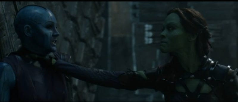 Illustration for article titled Guardians Of The Galaxy Deleted Scene Gives Us More Nebula And Gamora