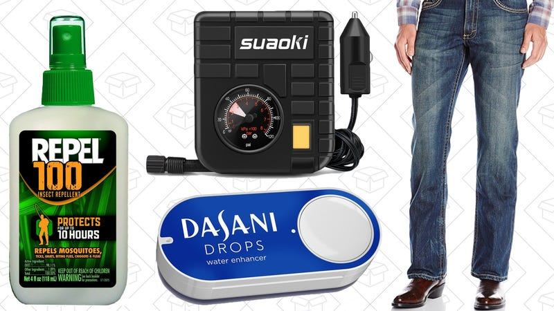 Illustration for article titled Today's Best Deals: $1 Dash Buttons, Wrangler Jeans, Your Favorite Bug Spray, and More
