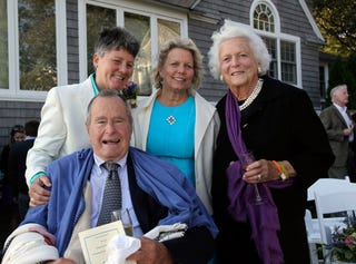 Illustration for article titled George and Barbara Bush Attend Gay Wedding