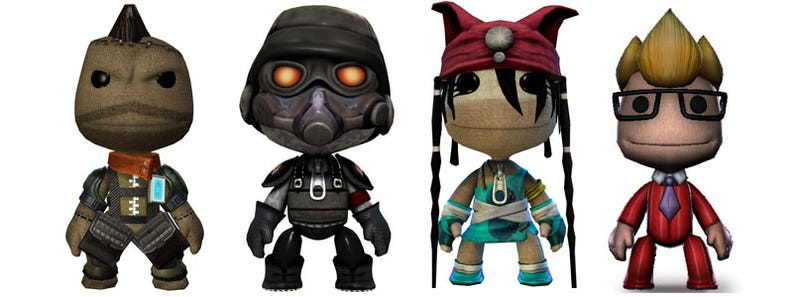 Illustration for article titled New Sackboys: Killzone, Heavenly Sword & Buzz