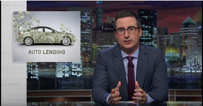 John Oliver explains the future automotive industry financial crash