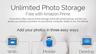 Illustration for article titled Amazon Gives Unlimited Photo Storage to Prime Customers