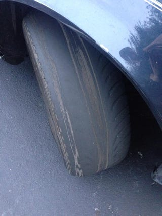 Illustration for article titled People willingly drive on tires this bad all the time.