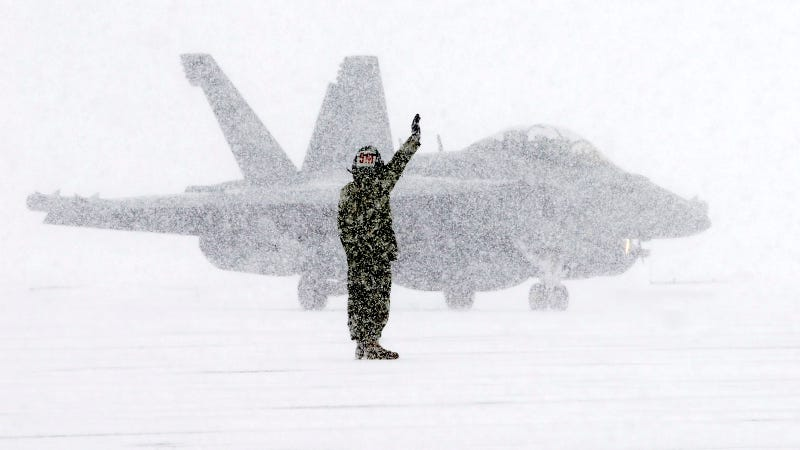 Illustration for article titled Even a War Plane Is Gorgeous in The Snow