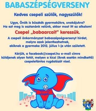 Illustration for article titled Rejtélyes önkormányzati verseny. Mi az a csepelefántos rugdalózó?