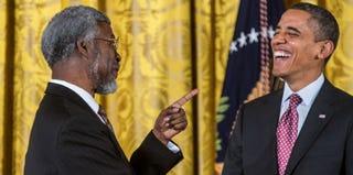 Sylvester James Gates Jr. and President Barack Obama (Getty Images)