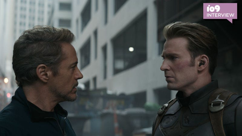Tony Stark and Steve Rogers share a moment in Avengers: Endgame.