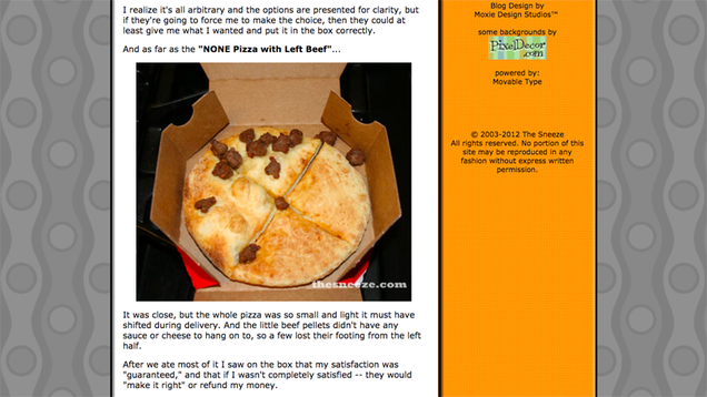 Reflections on the 10th Anniversary of None Pizza With Left Beef