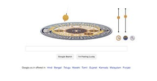 Illustration for article titled Google's doodle today is the Foucault Pendulum!