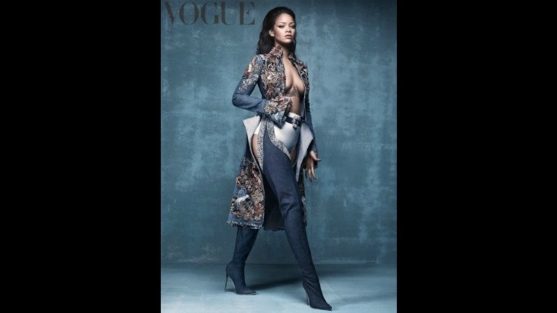 Illustration for article titled Can Anyone But Rihanna Pull Off Wearing These Crotch-High Manolo Blahnik Boots?