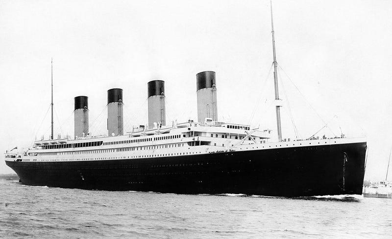 Titanic en 1912. Wikimedia Commons