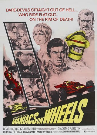 Illustration for article titled Car Movies May Suck, But Vintage Car Movie Posters Don't