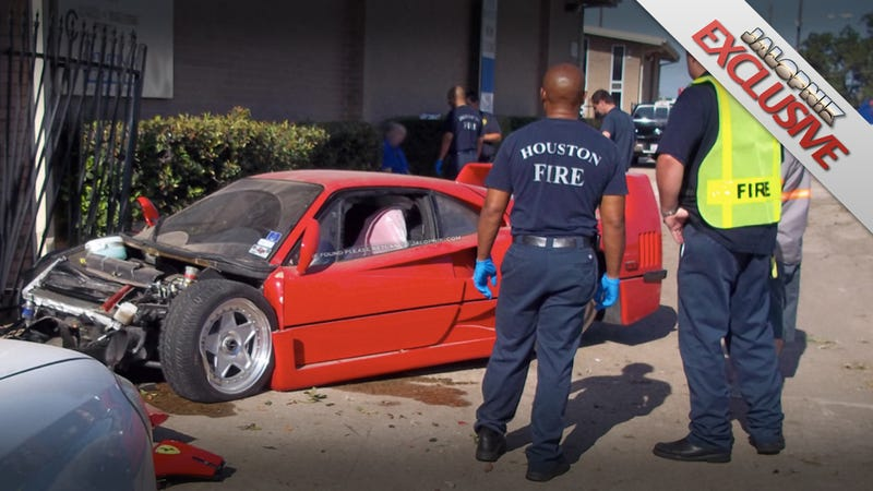 Illustration for article titled Mechanic wrecks out-of-town owner's $500,000 Ferrari F40