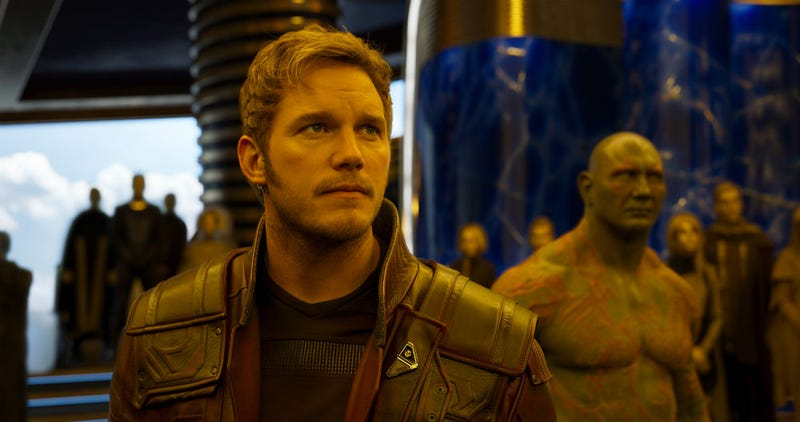 Chris Pratt as Star Lord in Guardians of the Galaxy Vol. 2. Image: Disney