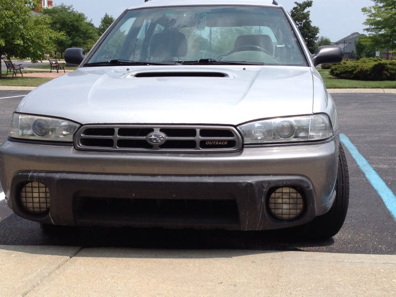 subaru legacy outback jdm projector headlight install condensed