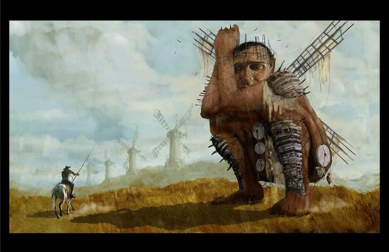 Illustration for article titled Amazing concept art from Terry Gilliam's The Man Who Killed Don Quixote