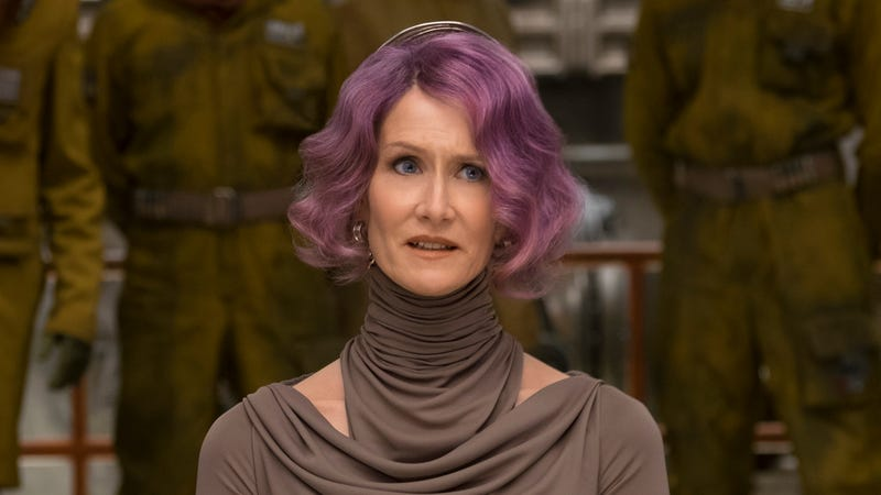 Laura Dern's Vice Admiral Holdo, whose face says everything. (Photo: David James/Lucasfilm)