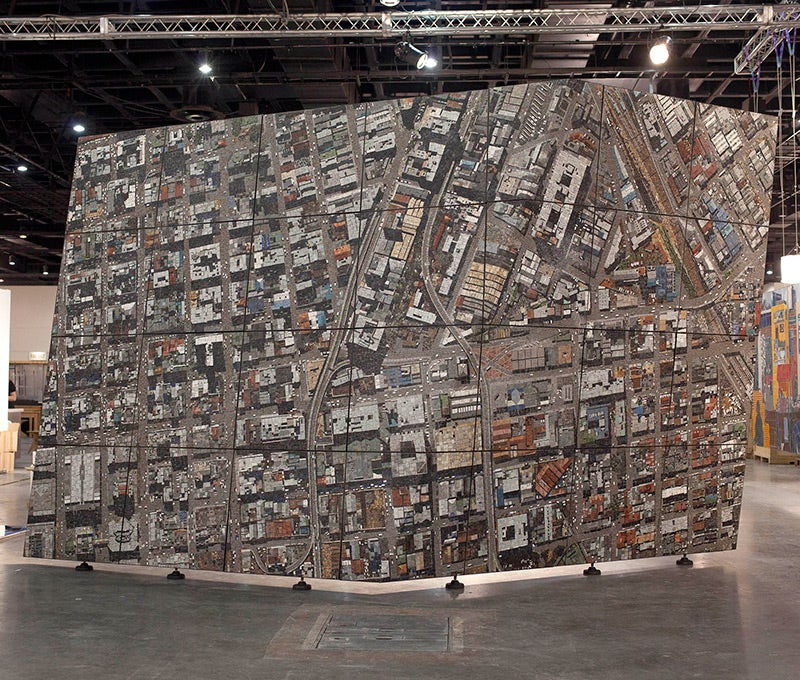 This Stone Mosaic Of Johannesburg Looks Like A Real