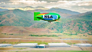 Illustration for article titled Anti-Spying Groups Flew A Blimp Over A NSA Data Center Today