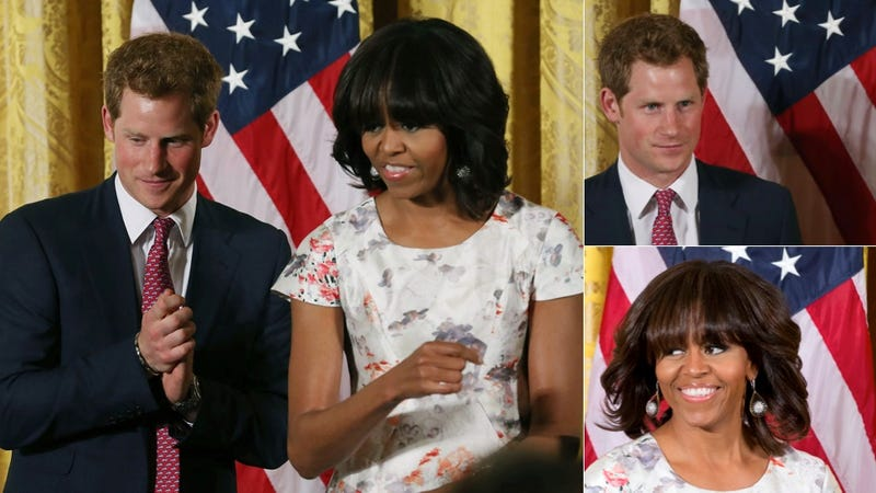 Illustration for article titled Prince Harry and Michelle Obama Host Swoony White House Teatime