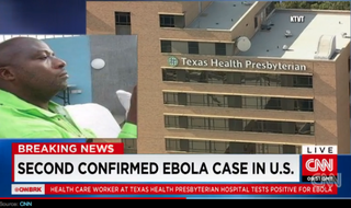 Health care worker tests positive for Ebola after helping Thomas Eric Duncan (inset), who died of the disease last week.CNN Screenshot