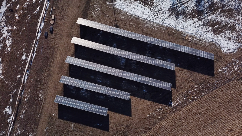 The CannonBall Community Solar Farm sits three miles from the Dakota Access Pipeline and on the Standing Rock Sioux Tribe Indian Reservation.