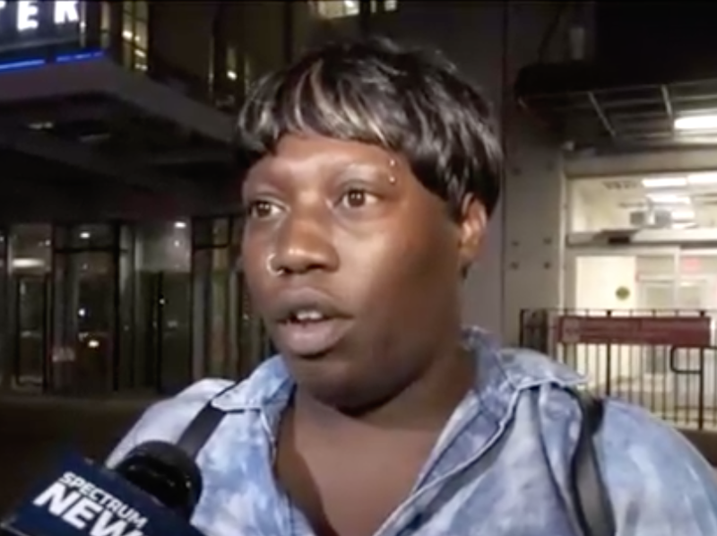 Ebony Merritt, the mother of burn victim Jamoneisha Merritt, said that the girls her daughter was with had bullied the 11-year-old in the past. (NY1 screenshot)