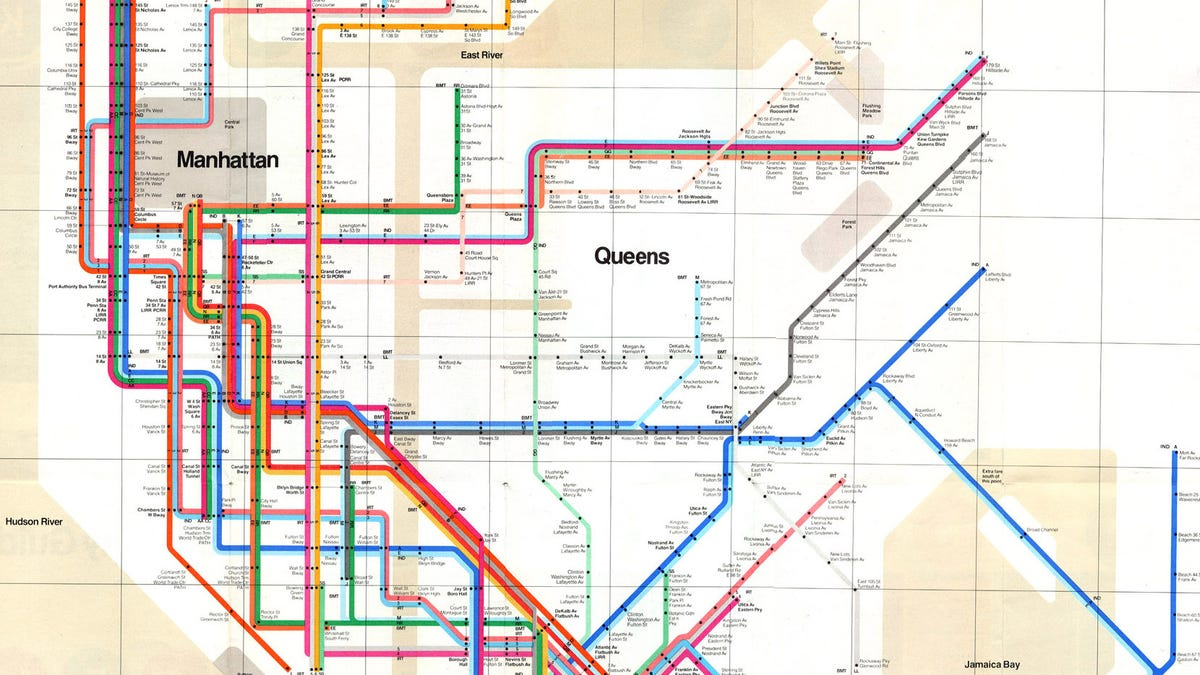 Queens And Manhatan Subway Map.15 Subway Maps That Trace Nyc S Transit History