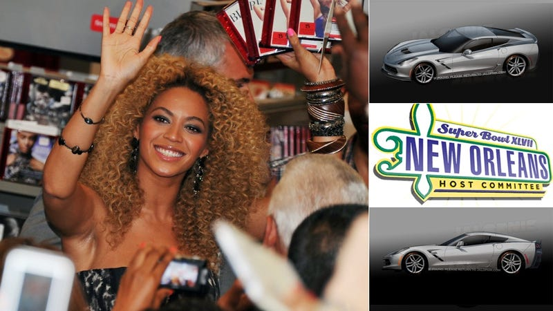 Illustration for article titled Expect Beyonce To Grind On A 2014 Corvette During The Super Bowl Halftime Show