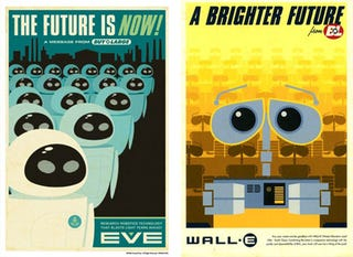 Illustration for article titled New Wall-E Promotion Posters Invoke 1950s Ad Stylings