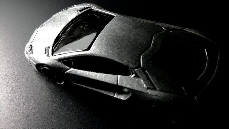 Illustration for article titled A silver Lambo