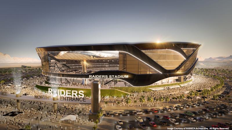 "Illustration for article titled Raiders Apply For ""Las Vegas Raiders"" Trademark, Release Stadium Renderings"