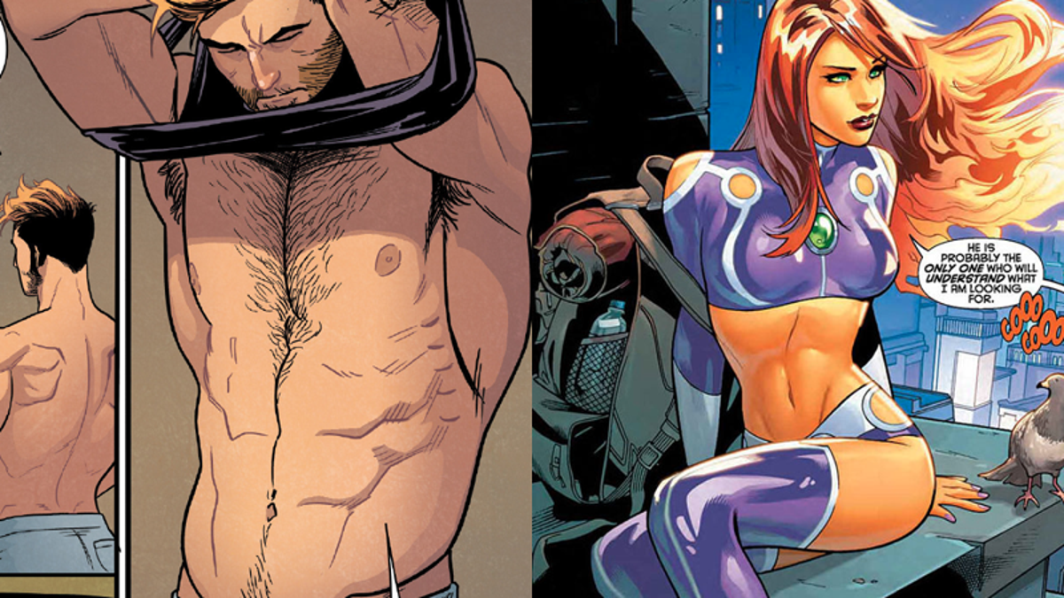 Topless female superheroes 13