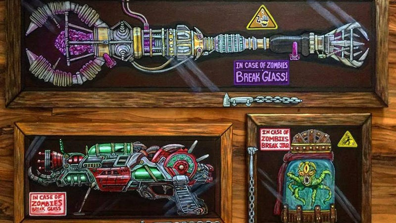 Illustration for article titled Artist Paints Beautiful Renditions of Call of DutyZombie Guns