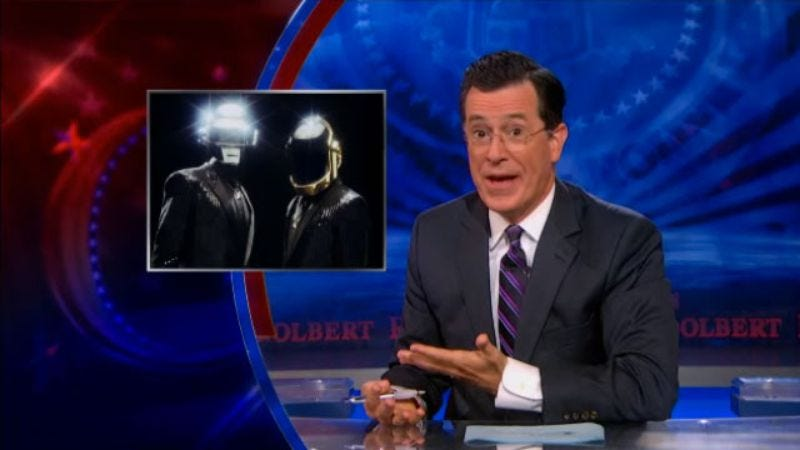 Illustration for article titled A new podcast episode finds Stephen Colbert detailing what happened with Daft Punk, Robin Thicke, and Henry Kissinger