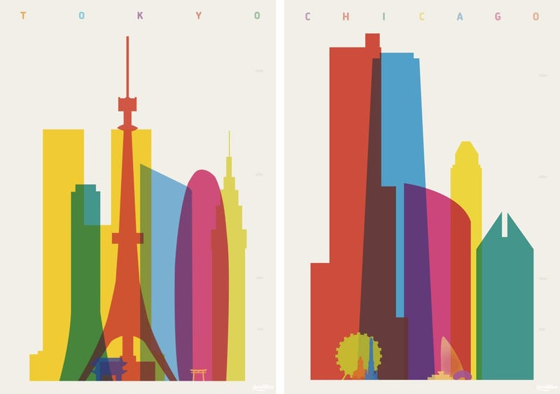 Illustration for article titled These Gorgeous Screenprints Showcase a City's Most Famous Structures