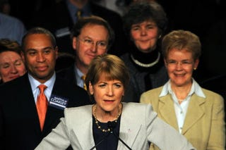 Coakley's concession speech - Getty Images