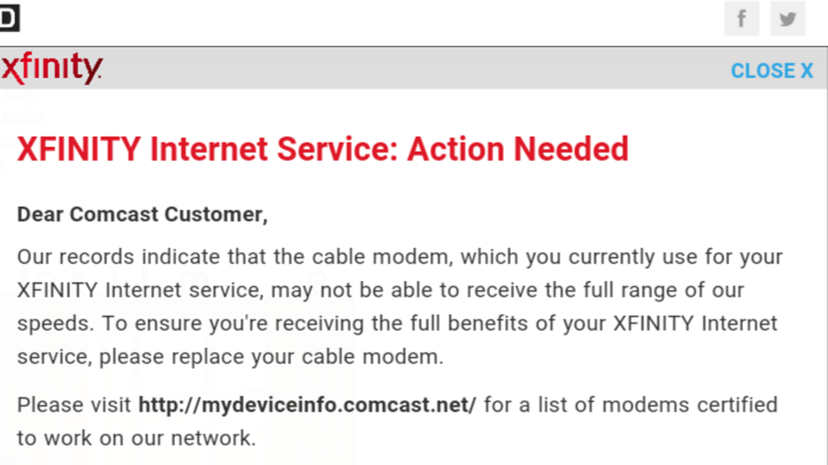 Comcast to Customer Who Noticed It Secretly Injecting Code