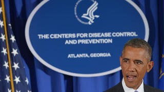 President Barack Obama speaks following meetings at the Centers for Disease Control and Prevention on Sept. 16, 2014, in Atlanta. Mandel Ngan/Getty Images