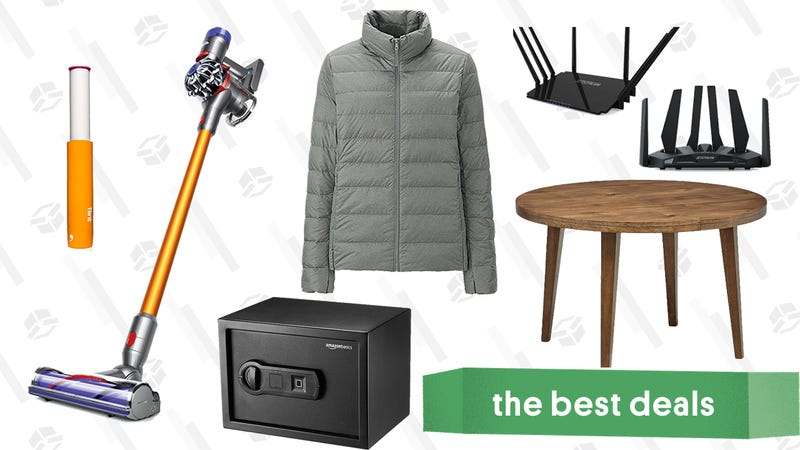 Illustration for article titled Saturday's Best Deals: Dyson, Dining Furniture, Biometric Safe, and More