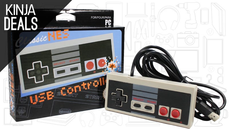 Illustration for article titled This $6 USB NES Controller is Packed With Sharp-Cornered Nostalgia