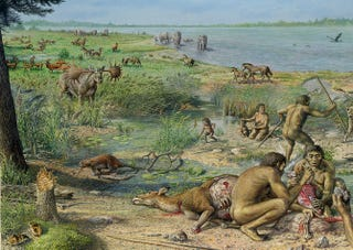 "Illustration for article titled Evidence Challenges the ""Out of Africa"" Timeline of Human Evolution"