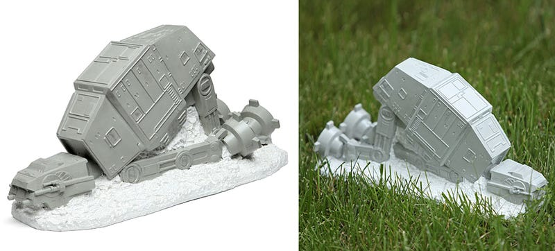 Illustration for article titled Skip the Gnome and Put a Fallen AT-AT On Your Lawn