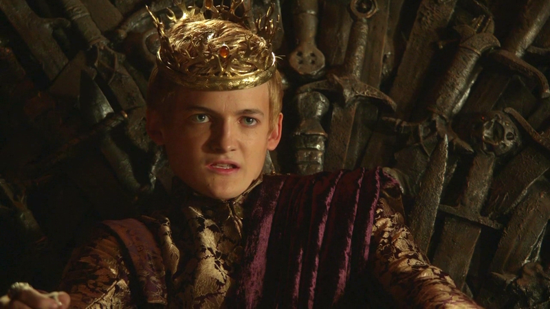El rey Joffrey cree saber quién reinará al final deJuego de Tronos, y tiene mucho sentido