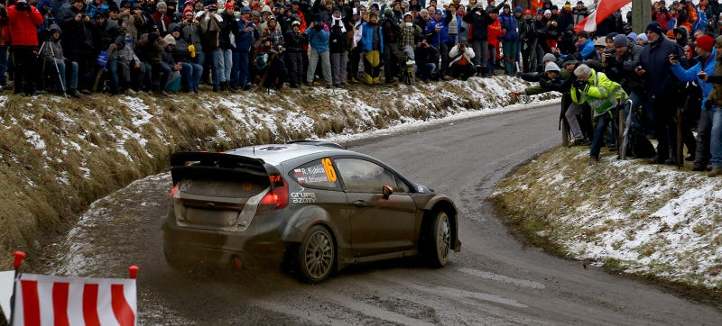 Illustration for article titled Rallye Monte Carlo Was Shortened Because Holy Crap Crazy Fans Everywhere