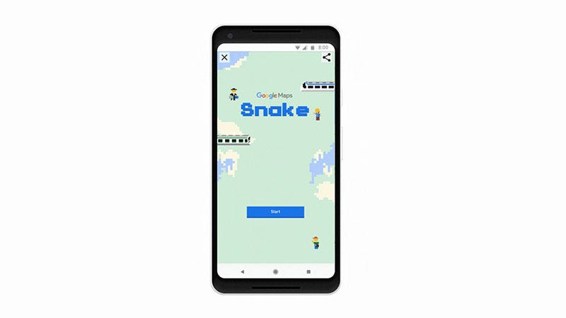 Illustration for article titled Snake Gets Added To Google Maps