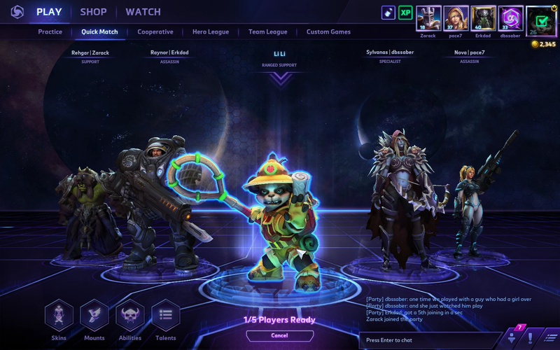 Heroes of the storm matchmaking update