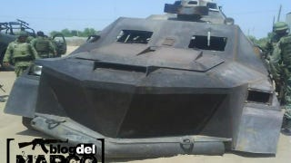Illustration for article titled Mexican drug cartel builds its own tank